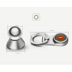 Support voiture Magnétique Métal avec anneau