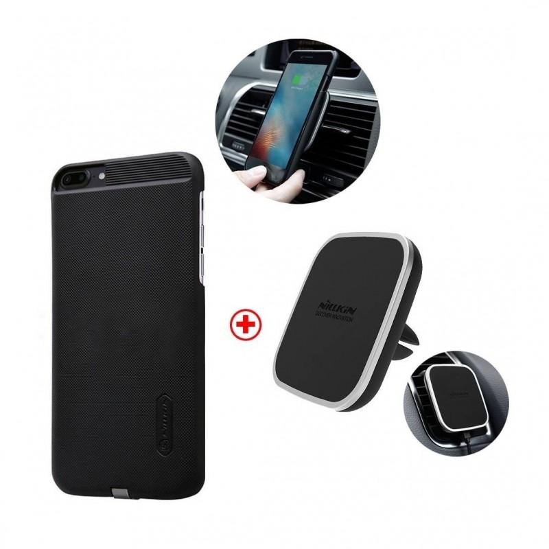 iphone 7 kit nillkin chargeur qi sans fil induction support voiture magn tique digiac. Black Bedroom Furniture Sets. Home Design Ideas