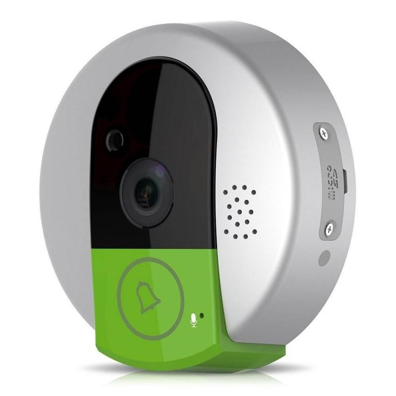 sonnette sans fil avec cam ra int gr audio bidirectionnelle d tection de mouvement digiac. Black Bedroom Furniture Sets. Home Design Ideas