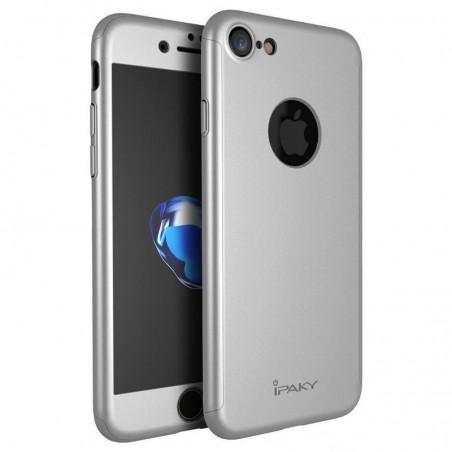 iphone 7 plus - coque+verre trempé iPaky® - argenté