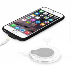 Coque iPhone 7 chargement à induction chargeur sans fil (technologie QI)