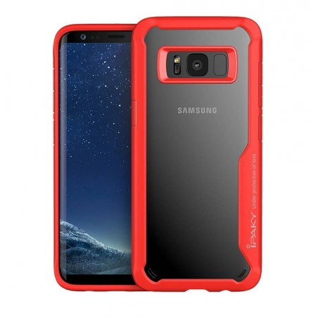 Galaxy S8/S8 plus - Coque souple Ipaky antichoc rouge