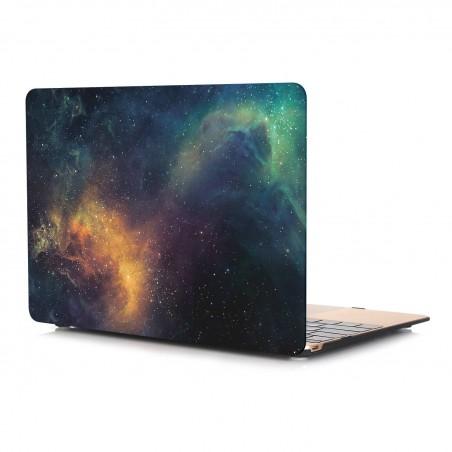 """MacBook 13"""" Pro 2016- Coque mate univers étoile devant et derrière"""