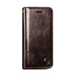 iPhone 8 plus -Etui portefeuille support simili cuir souple fermeture magnétique -Noir