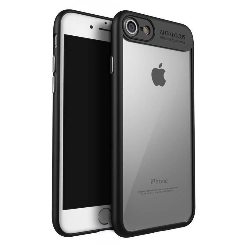 Coque souple Ipaky en TPU/PC antichute pour iphone 8 plus/7 plus - schwarz