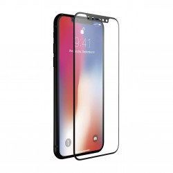 iPhone Xs/X - Protection plein d'écran en Verre Trempé 3D Noir