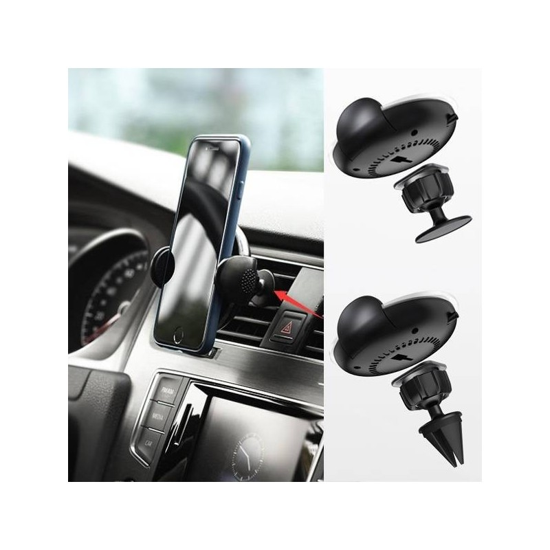 Chargeur sans Fil Qi support telephone voiture