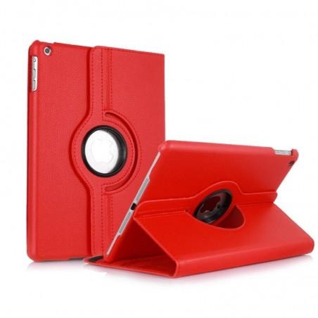 iPad 9.7 2017 (A1822/A1823) - HOUSSE étui support rotatif 360° cuir - Rouge
