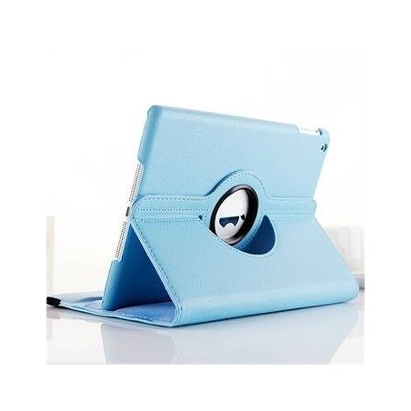 iPad 9.7 2017 (A1822/A1823) - HOUSSE étui support rotatif 360° cuir - Bleu