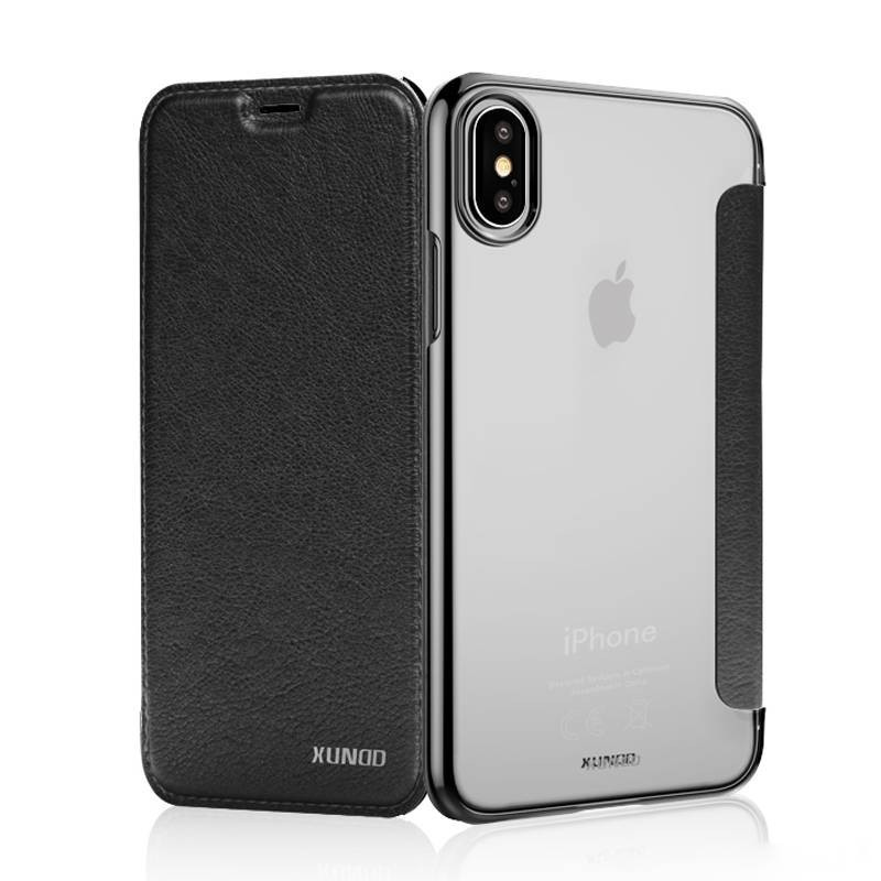 Apple Iphone X - Book Case XUNDD Encore Series - noir