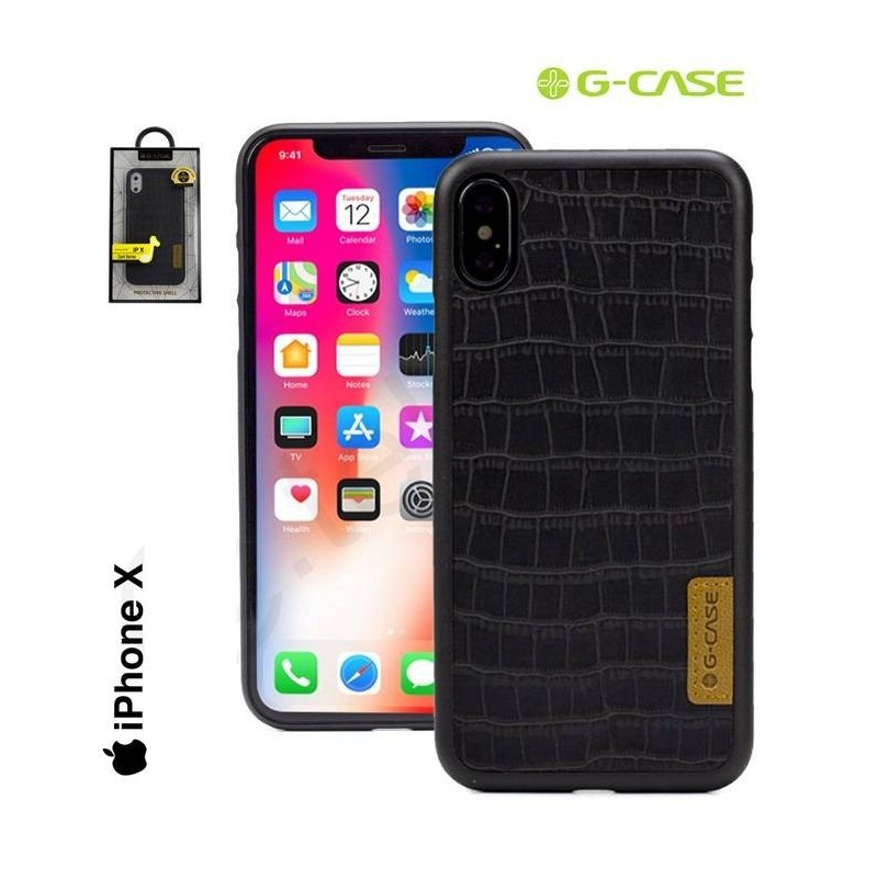 iPhone X - Coque effet Crocodile PC+TPU hybrid G-case