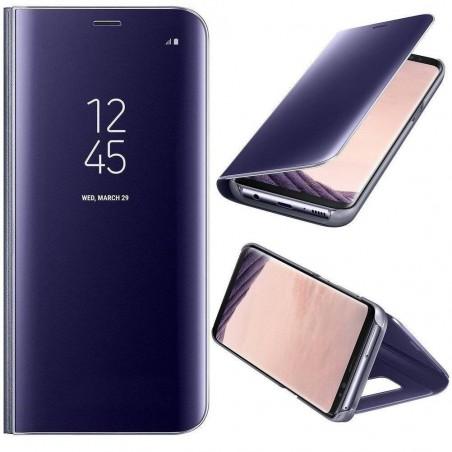 Galaxy Note 8 - Etui Housse à rabat effet miroir violet