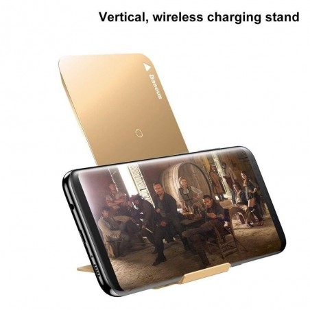 iPhone X - Qi chargeur induction rapide vertical or Baseus