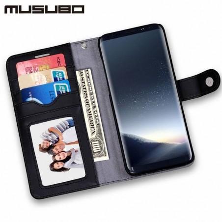 Galaxy S8/S8plus-Housse portefeuille détachable