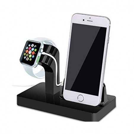 Chargeur Dock iPhone, station d'accueil iphone 2 en 1 Apple Watch support écran iPhone