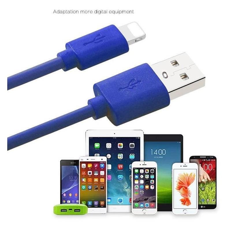 Câble lightning Chargement et Synchronisation pour iPhone - Bleu