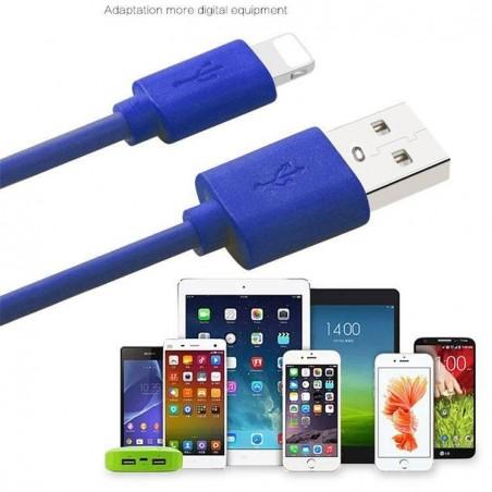 Câble lightning Chargement et Synchronisation 300cm pour iPhone - Bleu